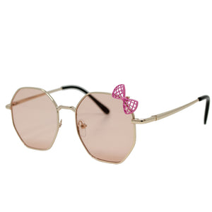 WITH PINK BOW SUNGLASSES - ROSE GOLD