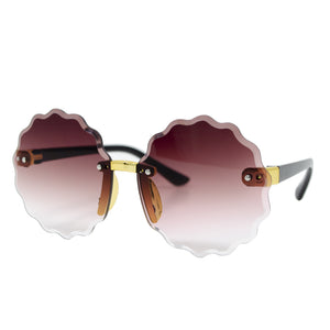 Frameless Round Sunglasses