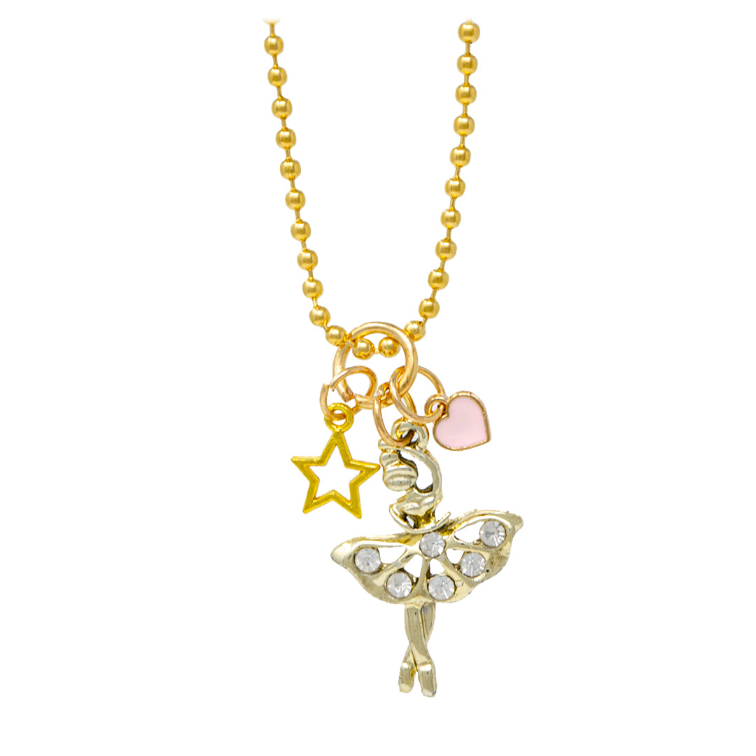 Ballerina, Star & Heart Necklace