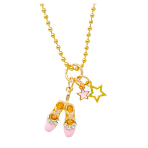 Ballet Slippers & Stars Necklace