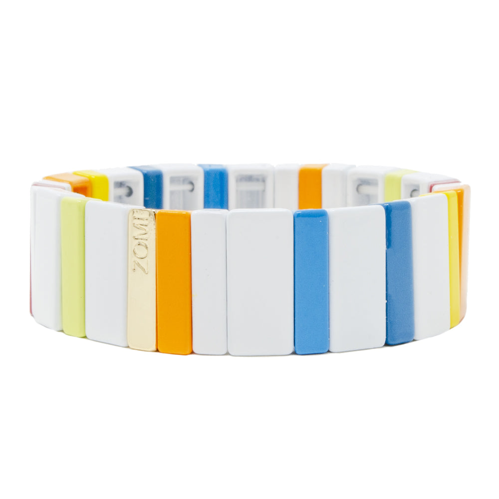 Jumbo Rainbow Stretchy Tile Bracelet