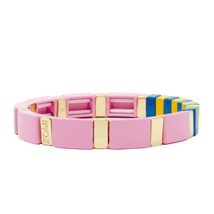 Color Stretchy Tile Bracelet