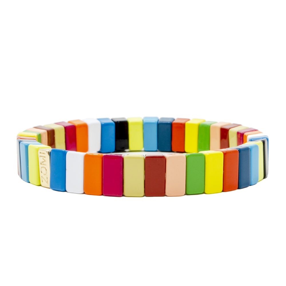 Rainbow Stretchy Tile Bracelet