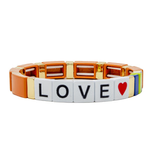 Stretchy Tile Love Bracelet