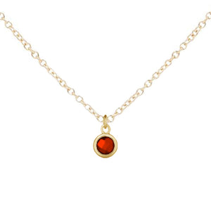 Little Mila | Kids Birthstone Necklace (Gold)