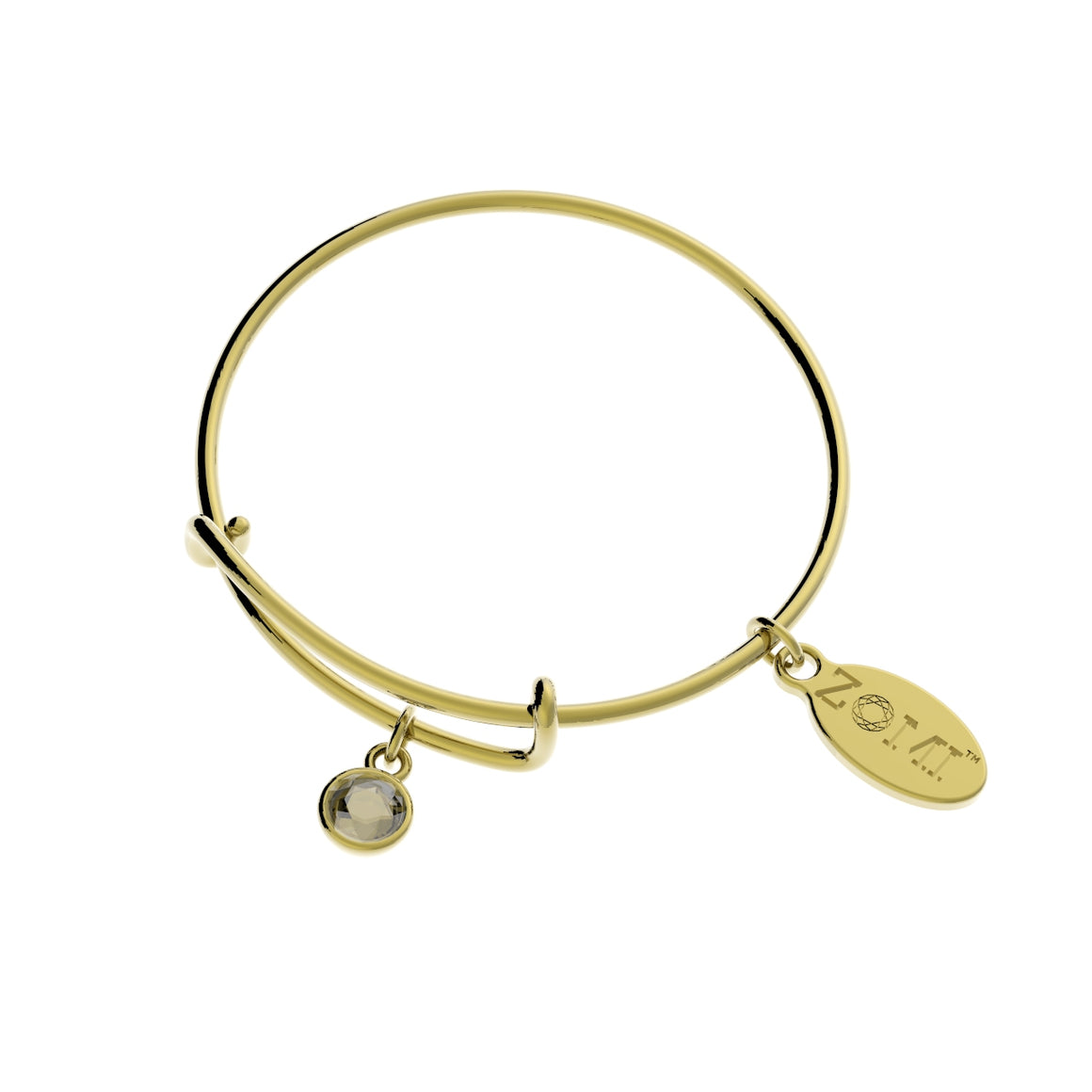 LITTLE ZOE | Kids birthstone bracelet (gold) - ZOMI GEMS