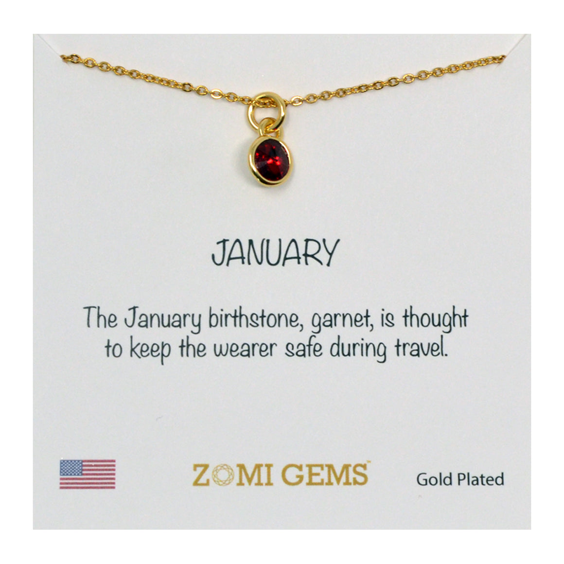 LITTLE MILA | Kids birthstone necklace (Gold) - ZOMI GEMS
