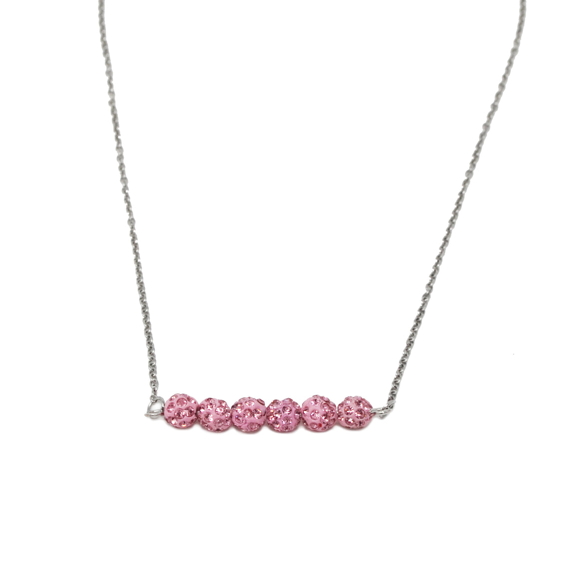 Crystal Bead Necklace- Pink - ZOMI GEMS