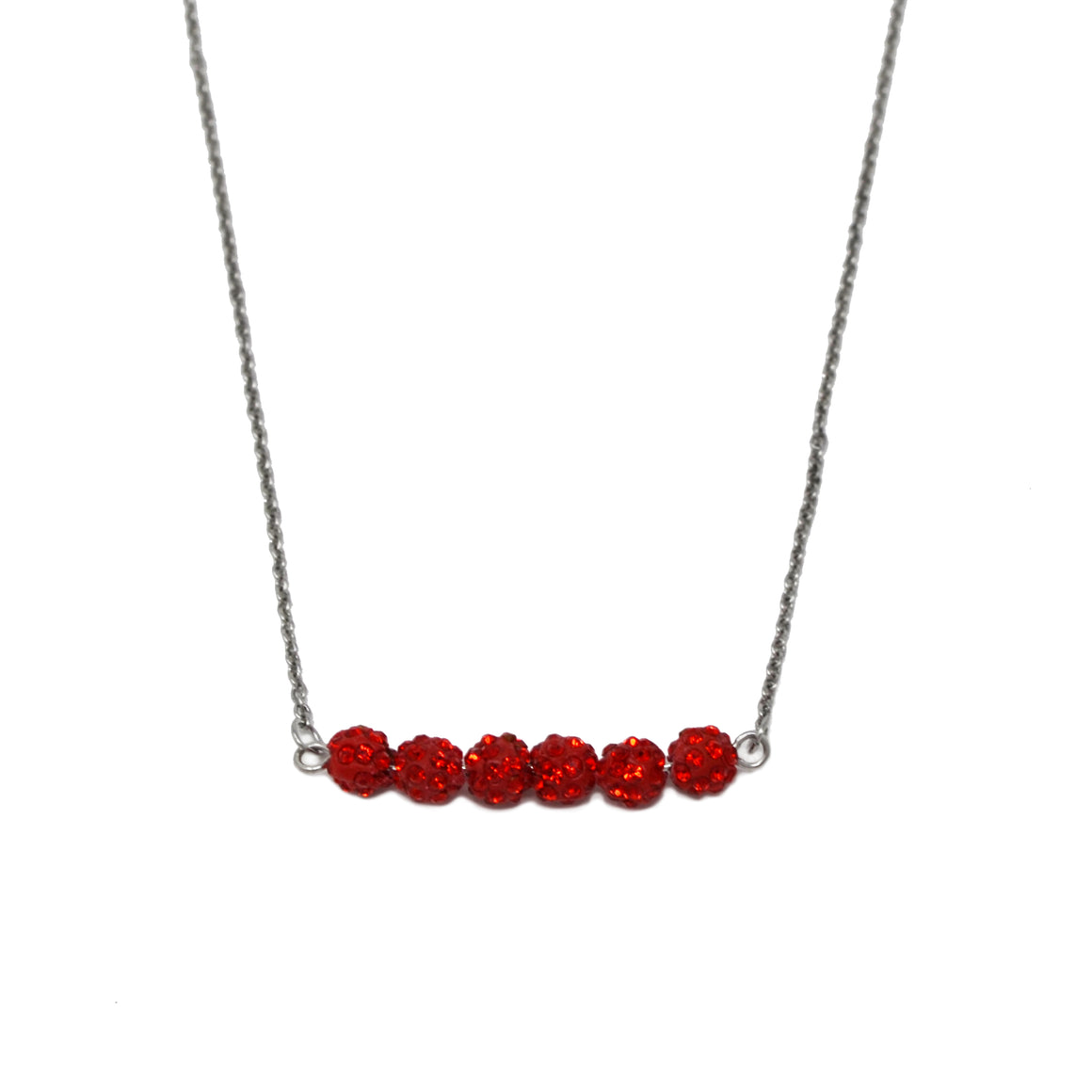 Crystal Bead Necklace- Red - ZOMI GEMS