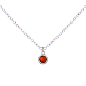 Little Mila | Kids Birthstone Necklace (Silver)