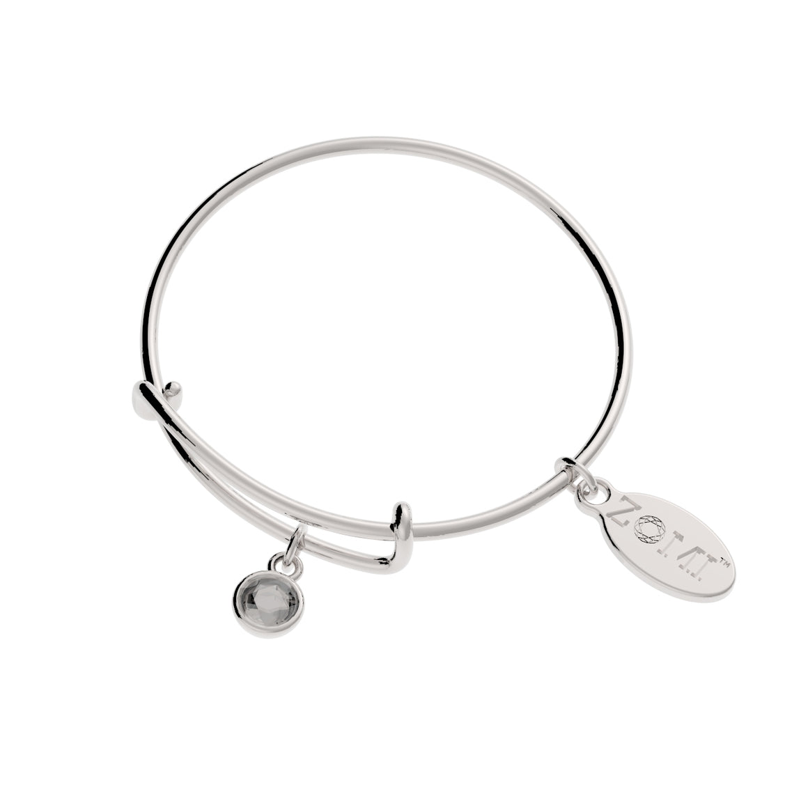 LITTLE ZOE | Kids birthstone bracelet (Silver)