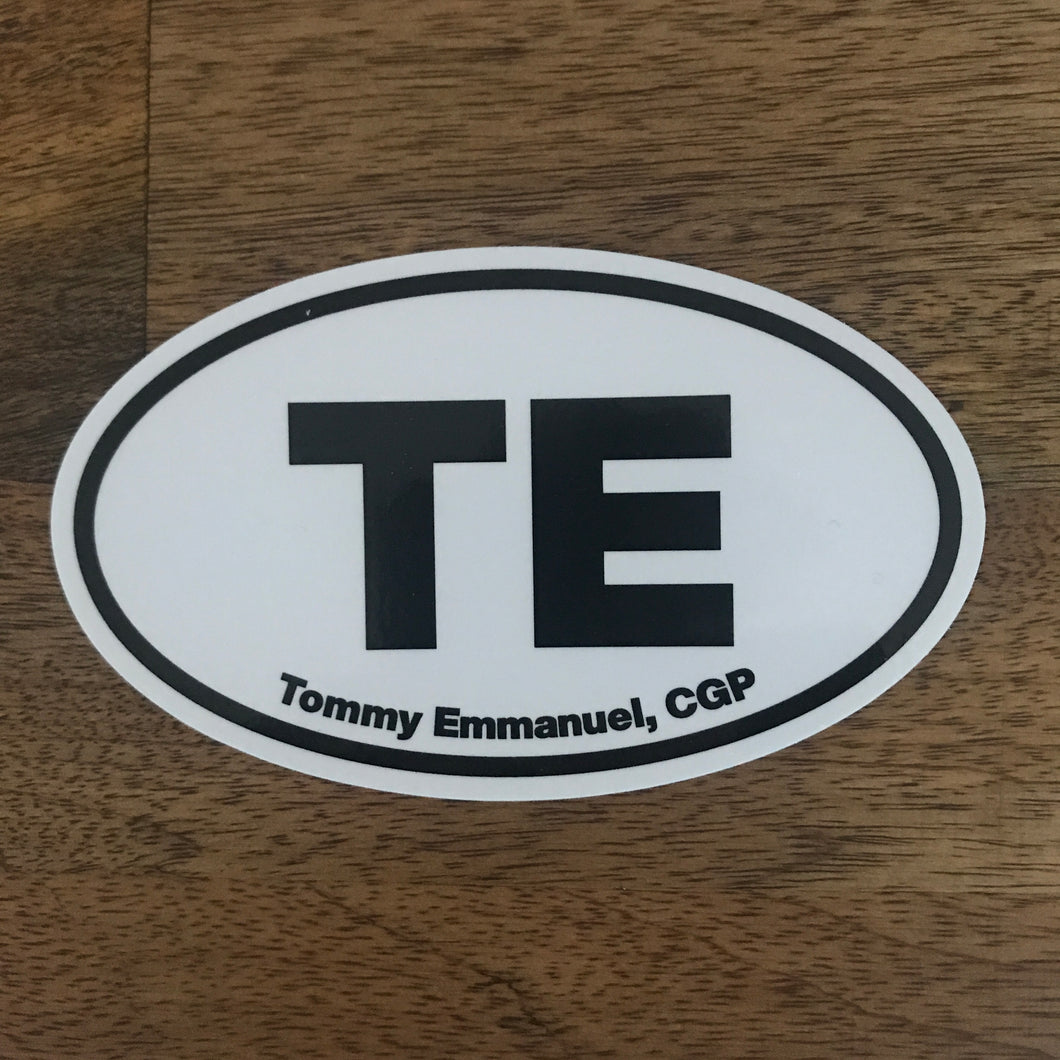 Oval TE Sticker
