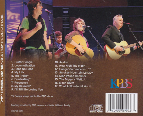 Live From The Balboa Theatre CD (2011)