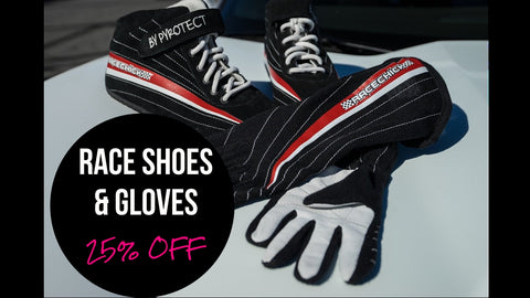 WOMEN'S RACE GLOVES & RACE SHOES