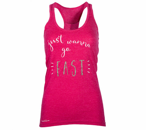 Just Wanna Go Fast Tank Top - Racechick