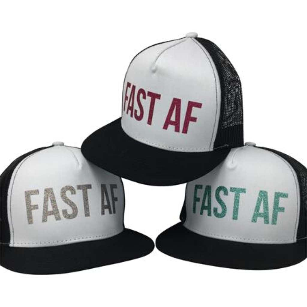 FAST AF Hat - White - Racechick