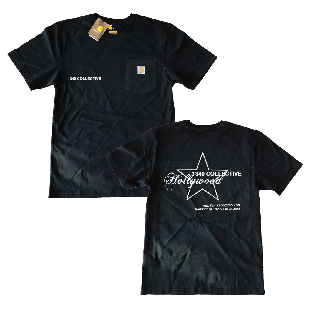 1340 HOLLYWOOD - TSHIRT (BLACK)