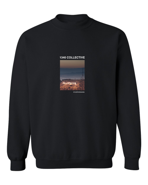 1340 HOLLYWOOD ON FIRE CREWNECK SWEATER