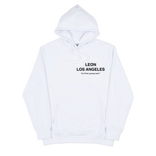 "Load image into Gallery viewer, 1340 x LEON ""DAY 1"" - HOODIE (White)"