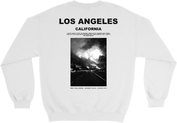 1340 COLLECTIVE x CHAMPION FIREFORNIA CREWNECK SWEATSHIRT