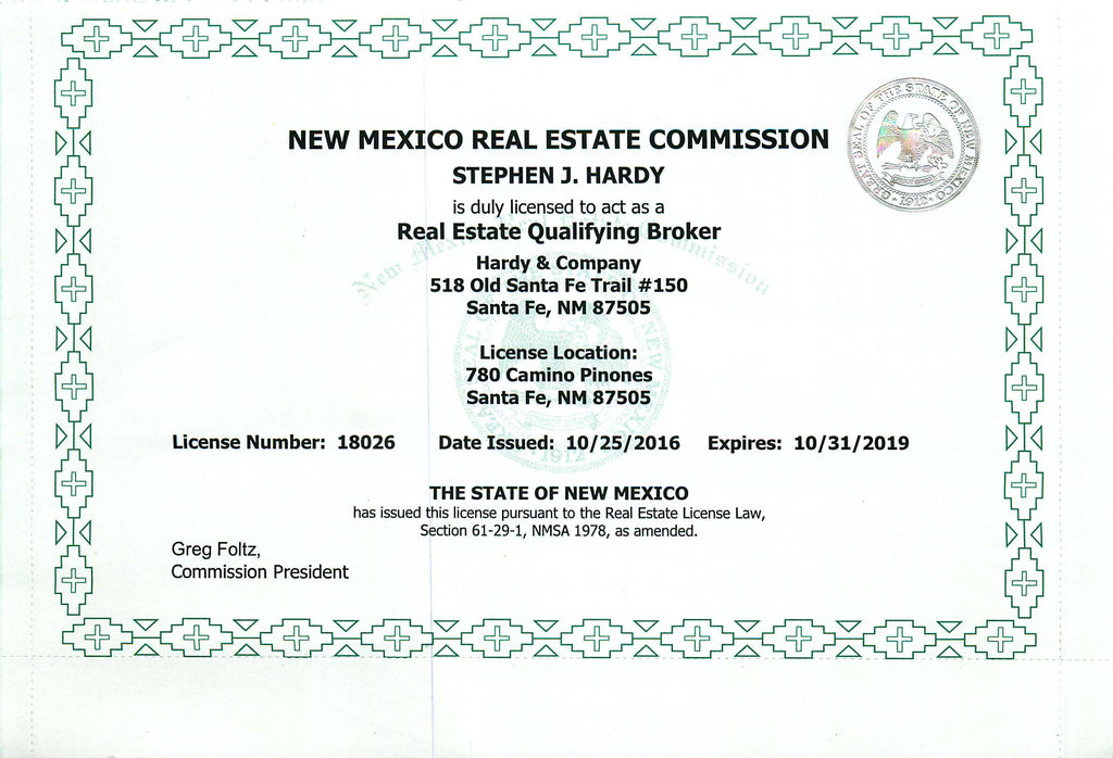 Real Estate Licenses – Hardy and Company