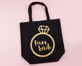 9f97b530c0ca Team Bride Canvas Tote Bag - Bachelorette Box