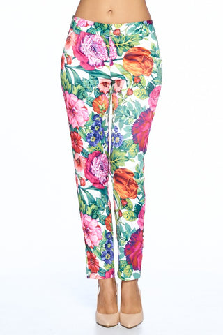 FLORAL BLOOM PRINTED LONG PANTS