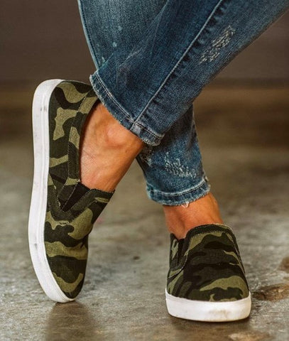 Camo Sneakers Comfort Insole
