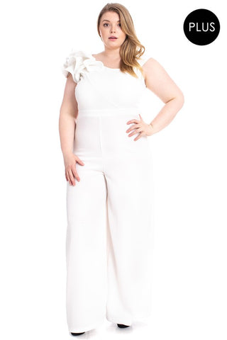 Try Not to Stare Jumpsuit Sleeveless  Ivory