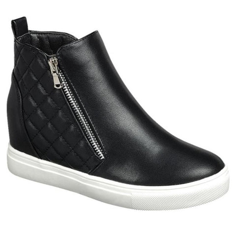 Side Zip Sneakers Black