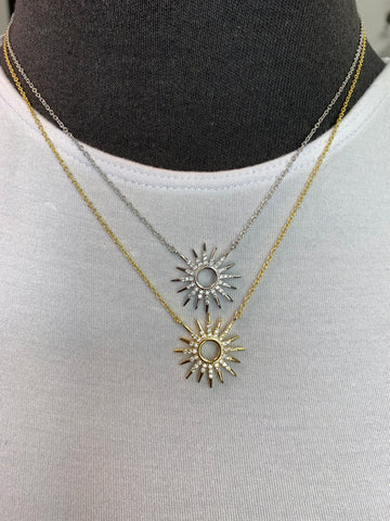 Sterling Silver Burst Necklace