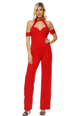 Jumpsuit Sweetheart-Red