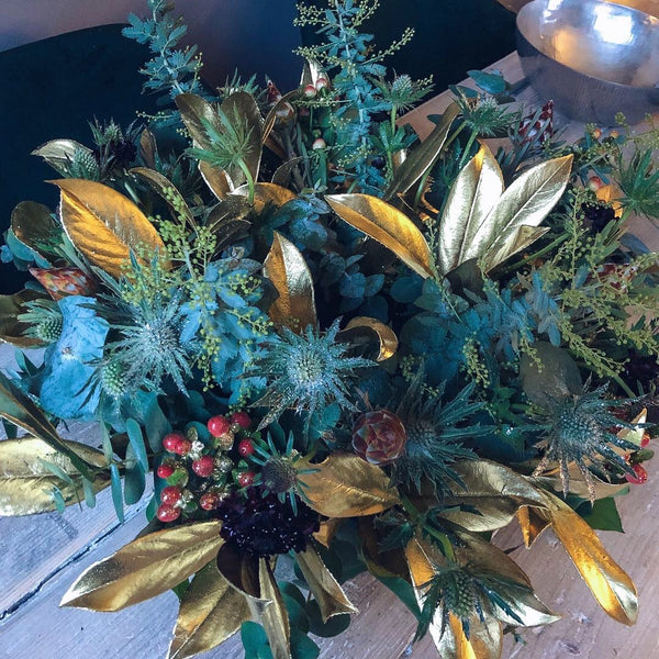Fresh Table Centre Wreath - 10 inch