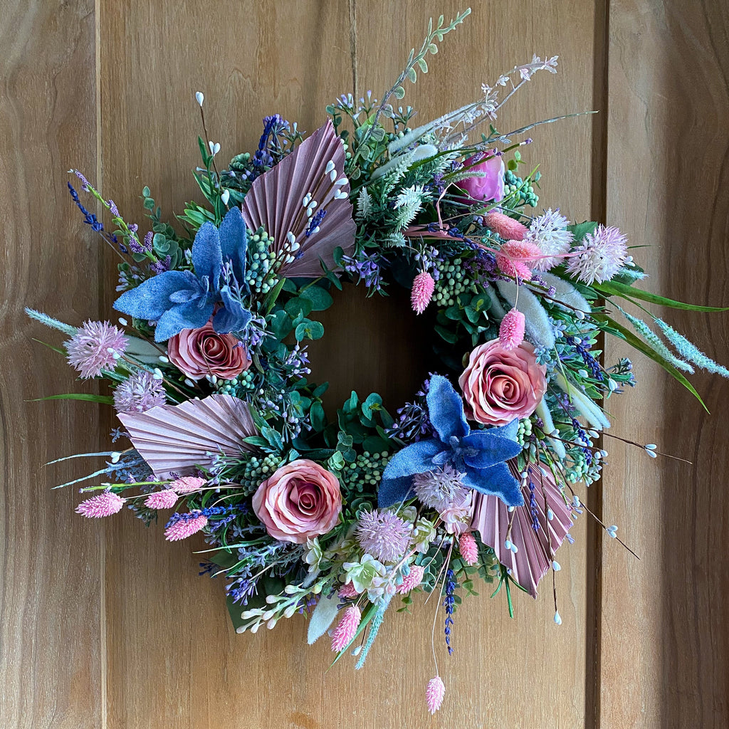 Silk & Dried (Indoor) Spring Wreath - honeybee blooms