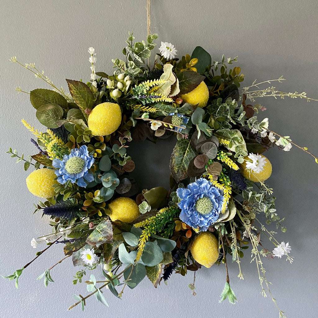 When Life Gives You Lemons Wreath - honeybee blooms
