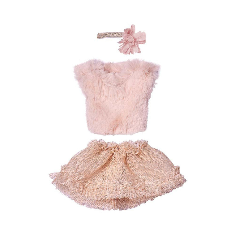 Mini Blouse and Tulle Skirt Rose