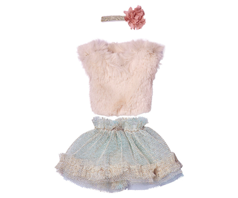 Mini Blouse and Tulle Skirt Mint