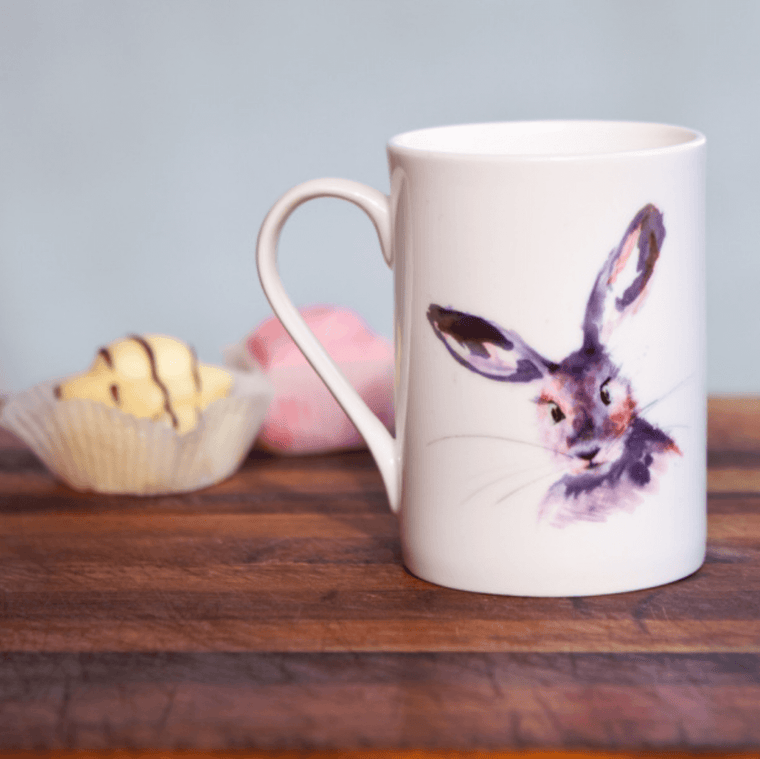 Inky Hare Fine Bone China Mug