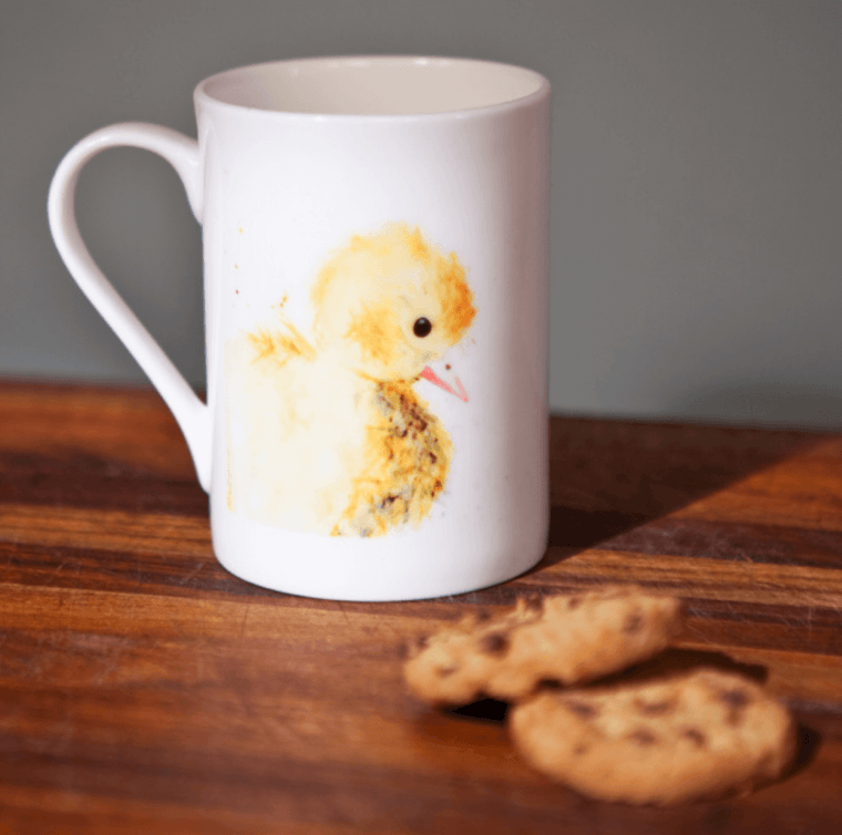 Inky Duckling Fine Bone China Mug