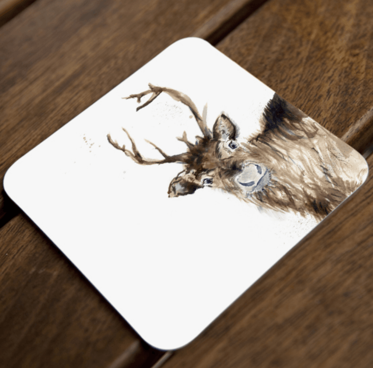 Inky Reindeer Coaster Set of 4
