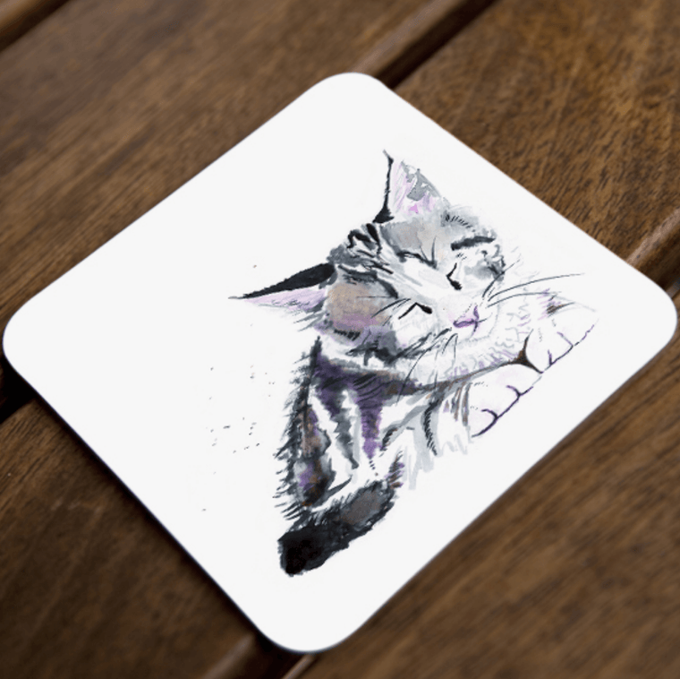Inky Kitten Coaster Set of 4