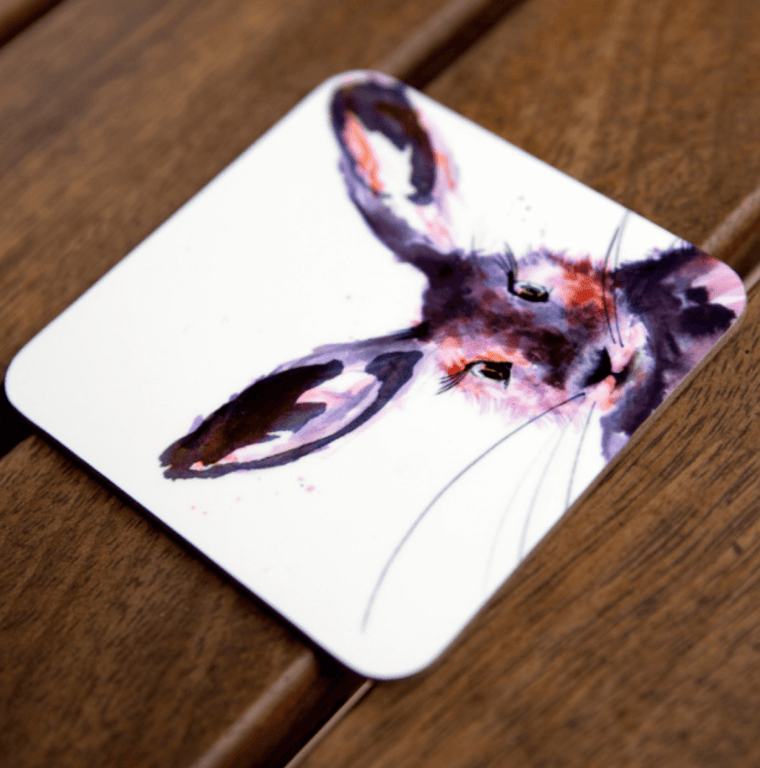 Inky Hare Coaster Set of 4
