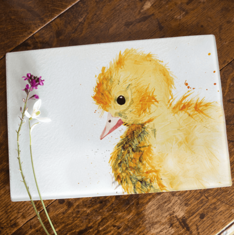 Inky Duckling Glass Worktop Saver