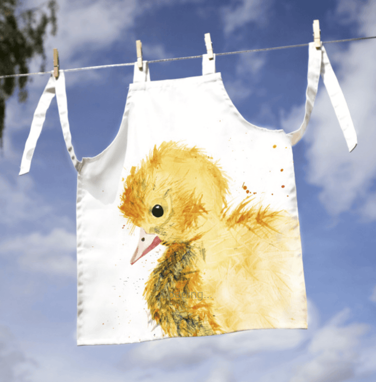 Gift for Her, Gift for Him, Kate Moby, Inky Duckling Adult Apron