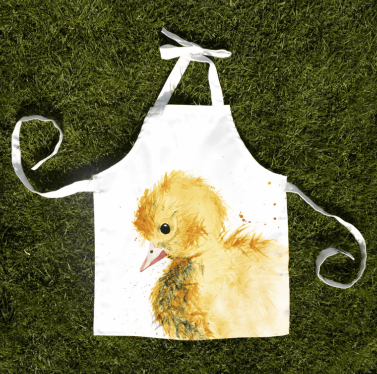 Gift for Her, Gift for Him, Kate Moby, Inky Duckling Child Apron