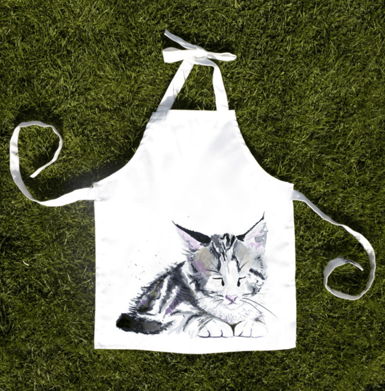 Inky Kitten Child Apron