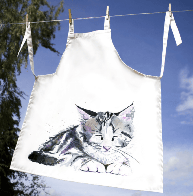 Inky Kitten Adult Apron