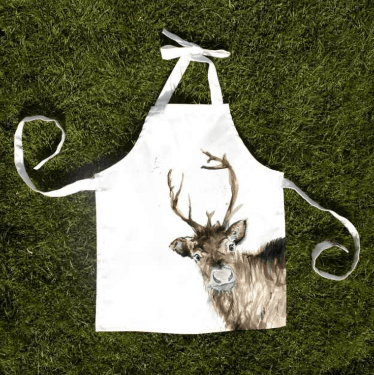 Inky Reindeer Child Apron