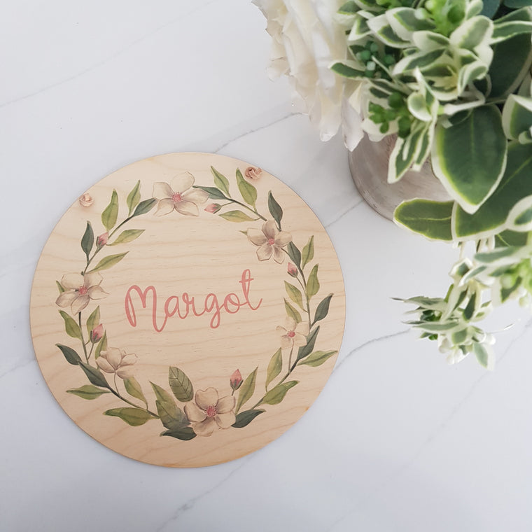 Summer Floral Plaque