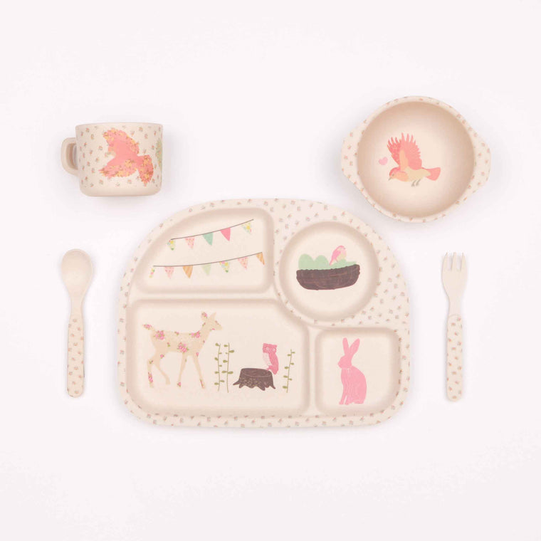 Bamboo 5pc Set Woodland Tea Party